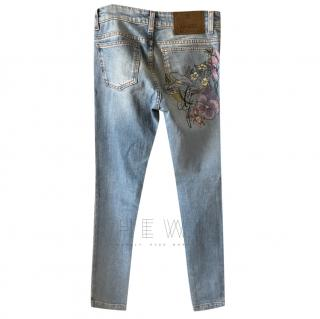 Gucci Embroidered Pocket Denim Jeans
