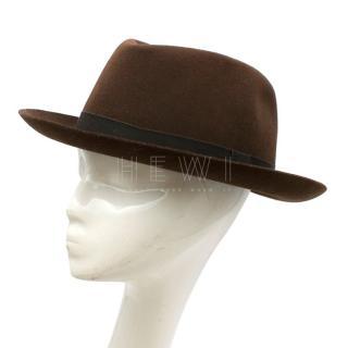 Anderson & Sheppard Grosgrain-Trimmed Wool-Felt Trilby Hat