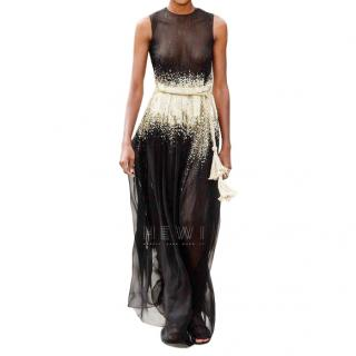 Oscar De La Renta Embellished silk-chiffon gown