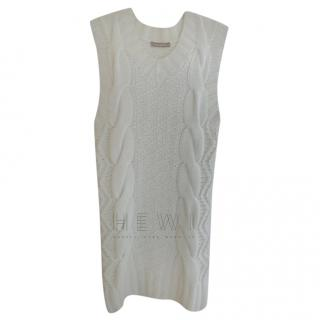 Thomas Griffith Ivory Cable Knit Dress