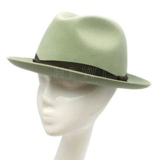 Panizza Hats Green Wool-Felt Trilby Hat