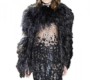 Gucci Ostrich Black Feather Cape
