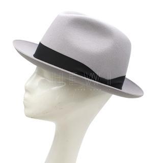 Panizza Hats Grey Wool-Felt Trilby Hat