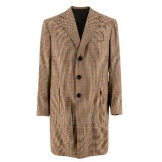 Sartoria Solito Tailored Brown Checked Overcoat