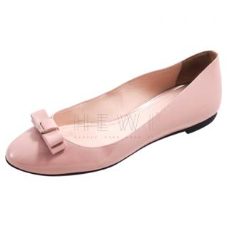 Bally Pale Pink Patent Ballet Flats