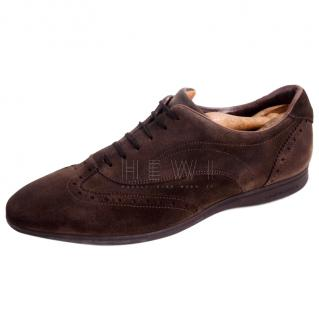 Moreschi Men's Brown Suede Brogues