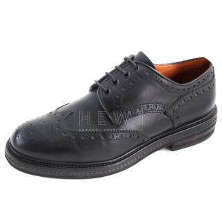 Santoni Black Men's Brogues