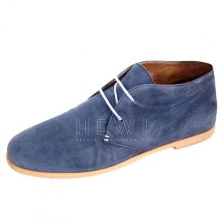 Fratelli Rossetti Men's Blue Suede Boots