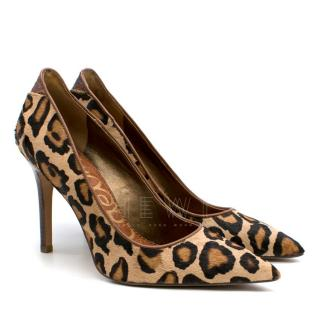 Sam Edelman Leopard Print Calf Hair Pumps