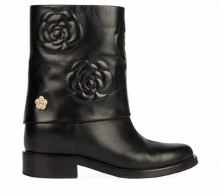 Chanel Camellia embroidered Boots