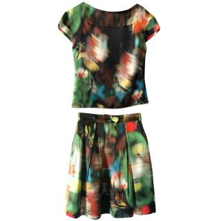 Erdem Floral Watercolour Skirt & Top