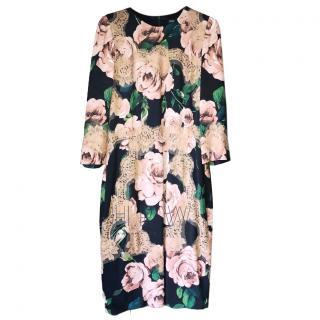 Dolce & Gabbana Lace Detailed Floral Midi Dress