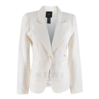 Smythe Duchess Ivory Linen jacket