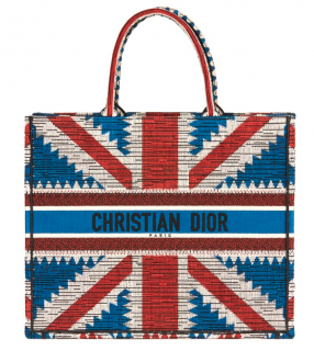 Dior Union Jack Canvas Book Tote