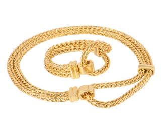 Pomellato 18kt Gold Chain Link Necklace & Bracelet