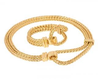 Pomellato 18kt Gold Chain Link Necklace & Bracelet