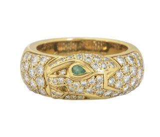 Cartier Pave Set Yellow Gold Ring