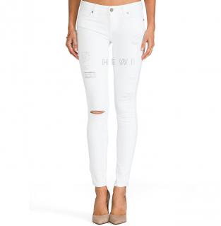 Paige Verdugo Ultra Skinny Optic White destructed jeans