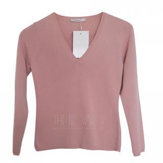 Max Mara Pink Wool Knit Jumper