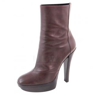 Louis Vuitton Brown Platform Ankle Boots