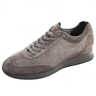 Tod's Grey Suede & Mesh Trainers