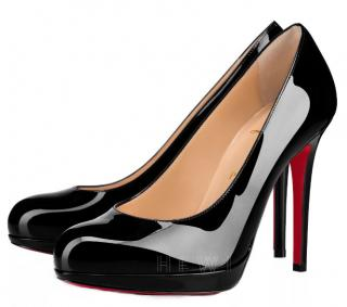 Christian Louboutin Black Patent New Simple Pump 120