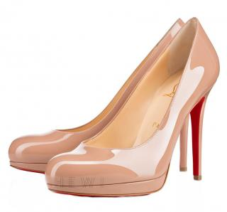 Christian Louboutin Nude Patent New Simple Pump 120