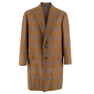 Hardy Amies Wool Check Overcoat