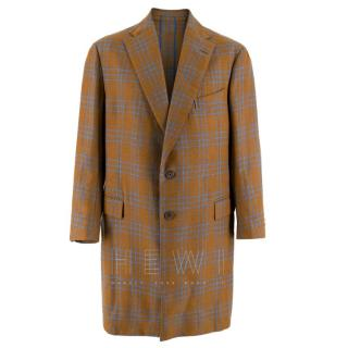 Hardy Amies Wool Check Overcoat