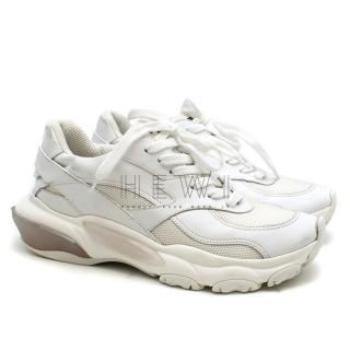Valentino Garavani Bounce White Leather Sneakers