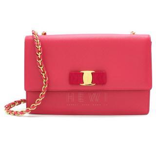 Ferragamo Pink Ginny Shoulder Bag