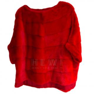 Bespoke Red Mink Cape