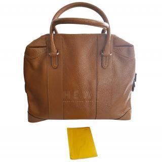 Fendi Brown Leather Bowling Bag
