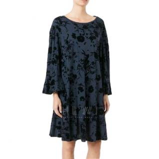 Driesn Van Noten velvet floral print dress