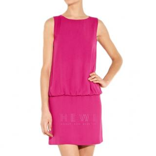 Red Valentino raspberry crepe dress