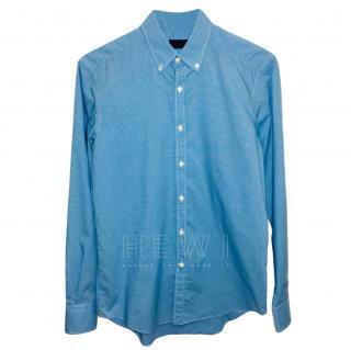 Lanvin Men's Blue Gingham Shirt