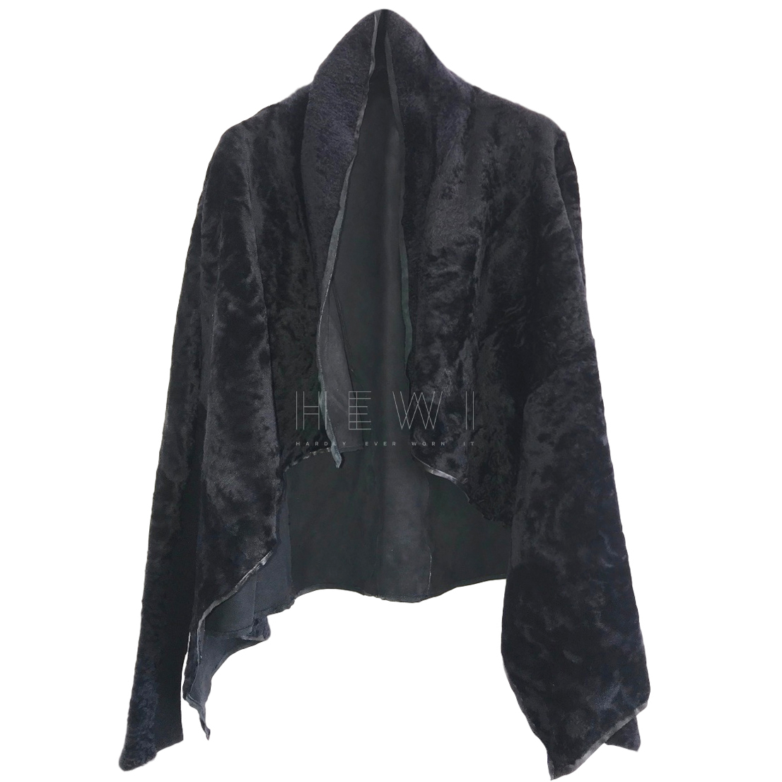 Rick Owens Hun collection Shearling Cape