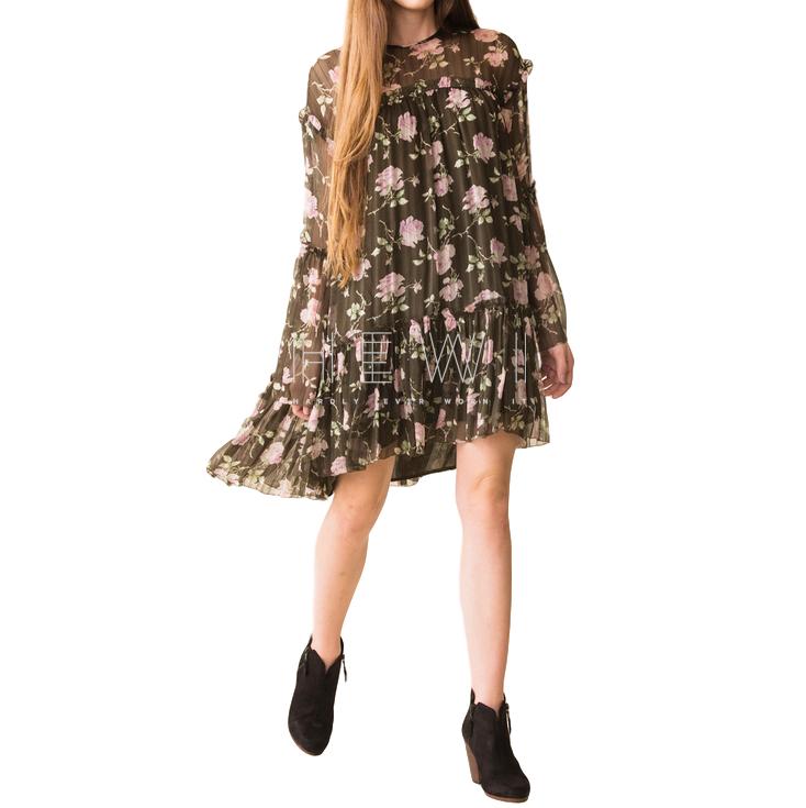 Ulla Johnson Dahlia Rose-Print Silk Georgette Dress