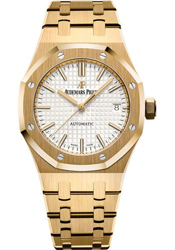 Audemars Piguet 37mm Octagonal Royal Oak 18K Yellow Gold Watch