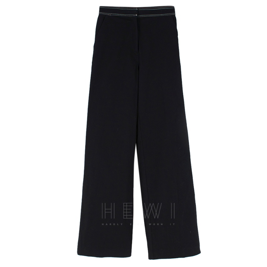 Self Portrait wide leg stitched trousers
