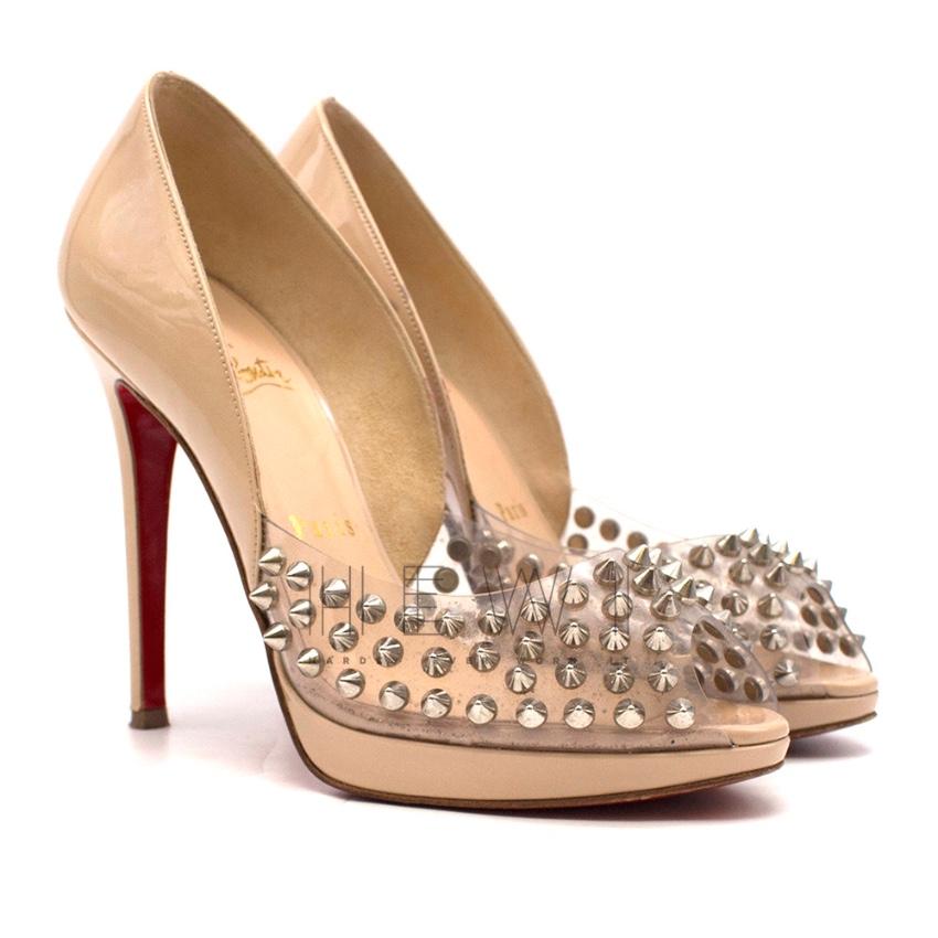photos officielles 94ecc 6cd64 Christian Louboutin very prive plexi spiked heels