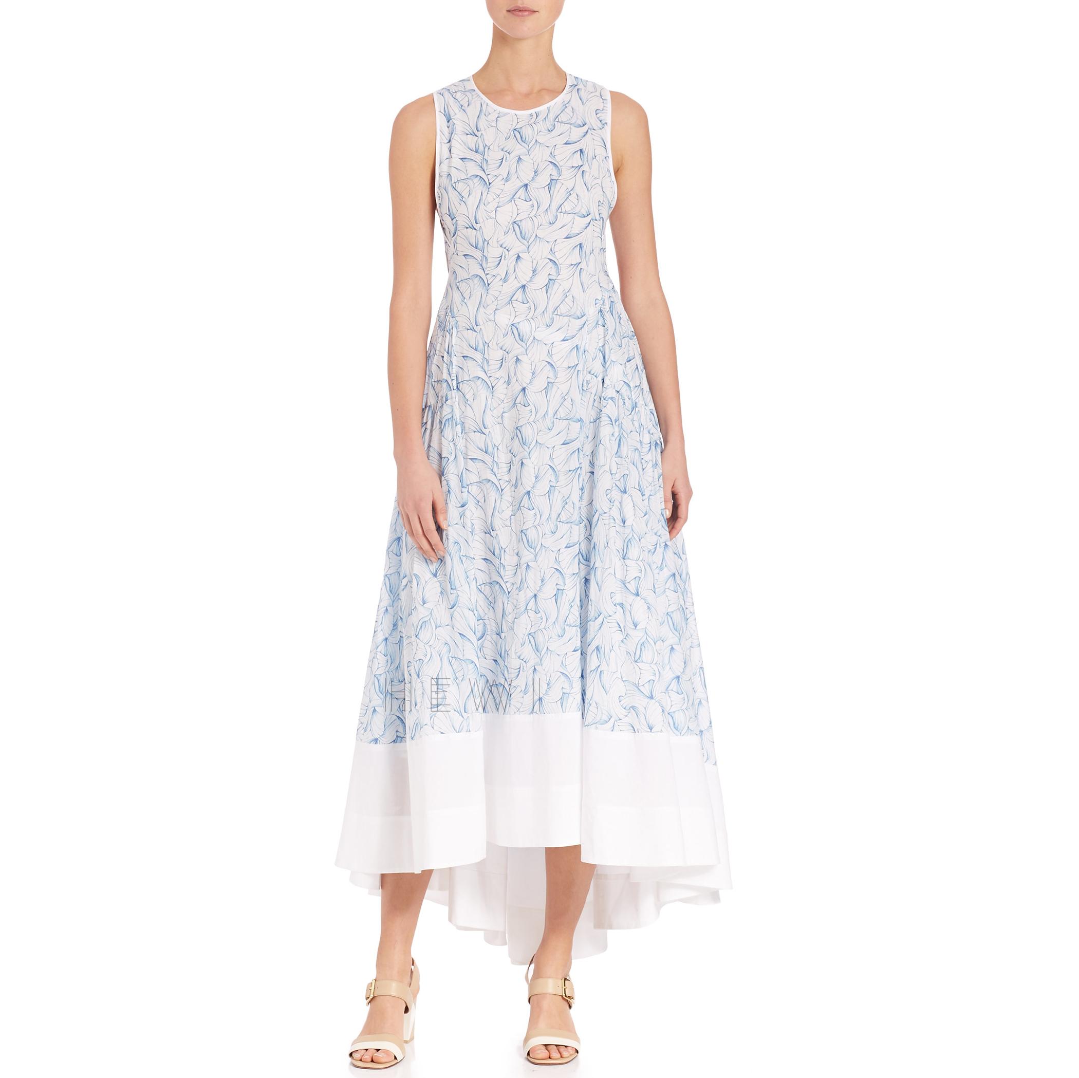 Tory Burch Blue Blaire Printed Cotton Dress