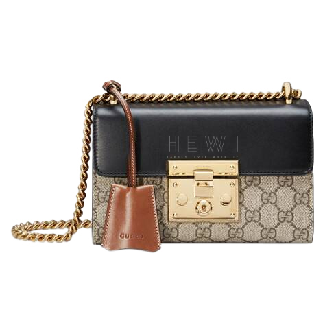 Gucci Monogram Padlock Shoulder Bag
