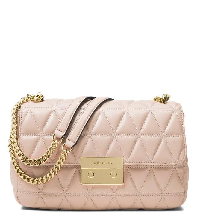 Michael Kors Blush leather Sloan shoulder bag