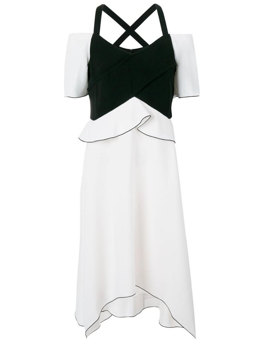 Provenza Schouler crepe peplum dress