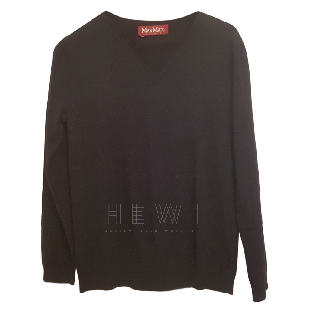 MaxMara Navy Wool Sweater