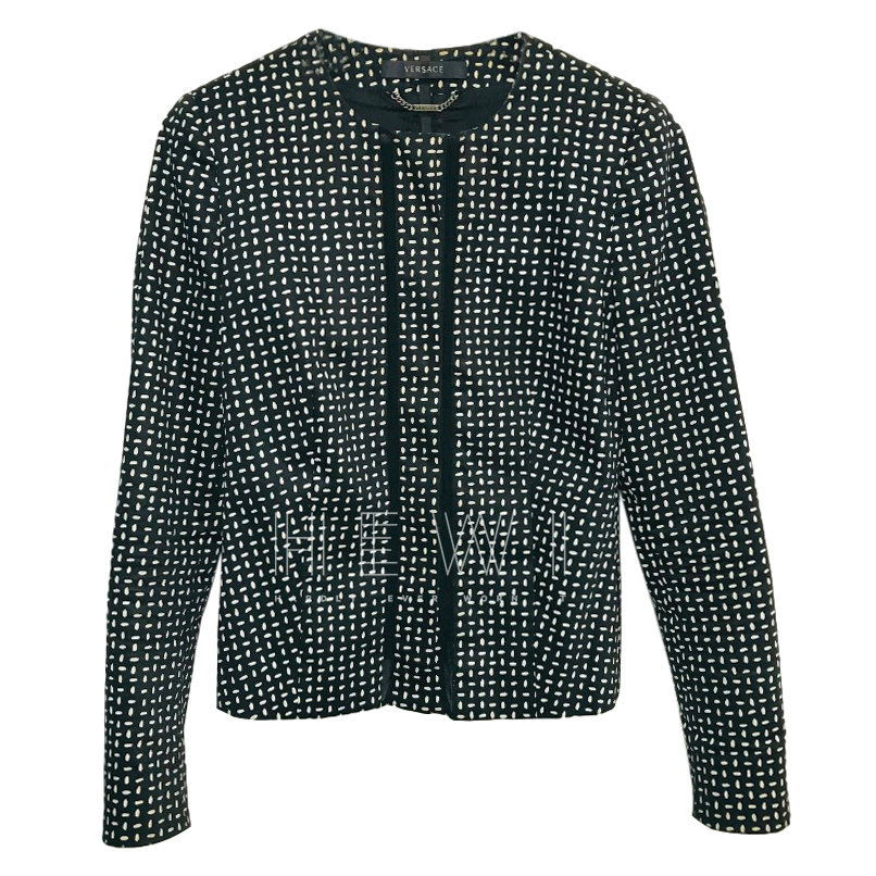 Gianni Versace Abstract-Dot Collarless Jacket