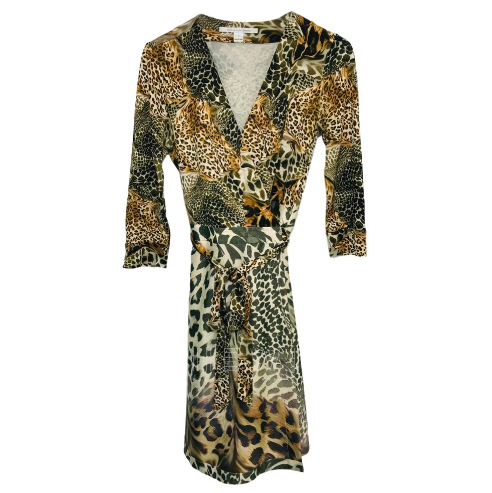Diane von Furstenberg Multi Leopard-print wrap dress