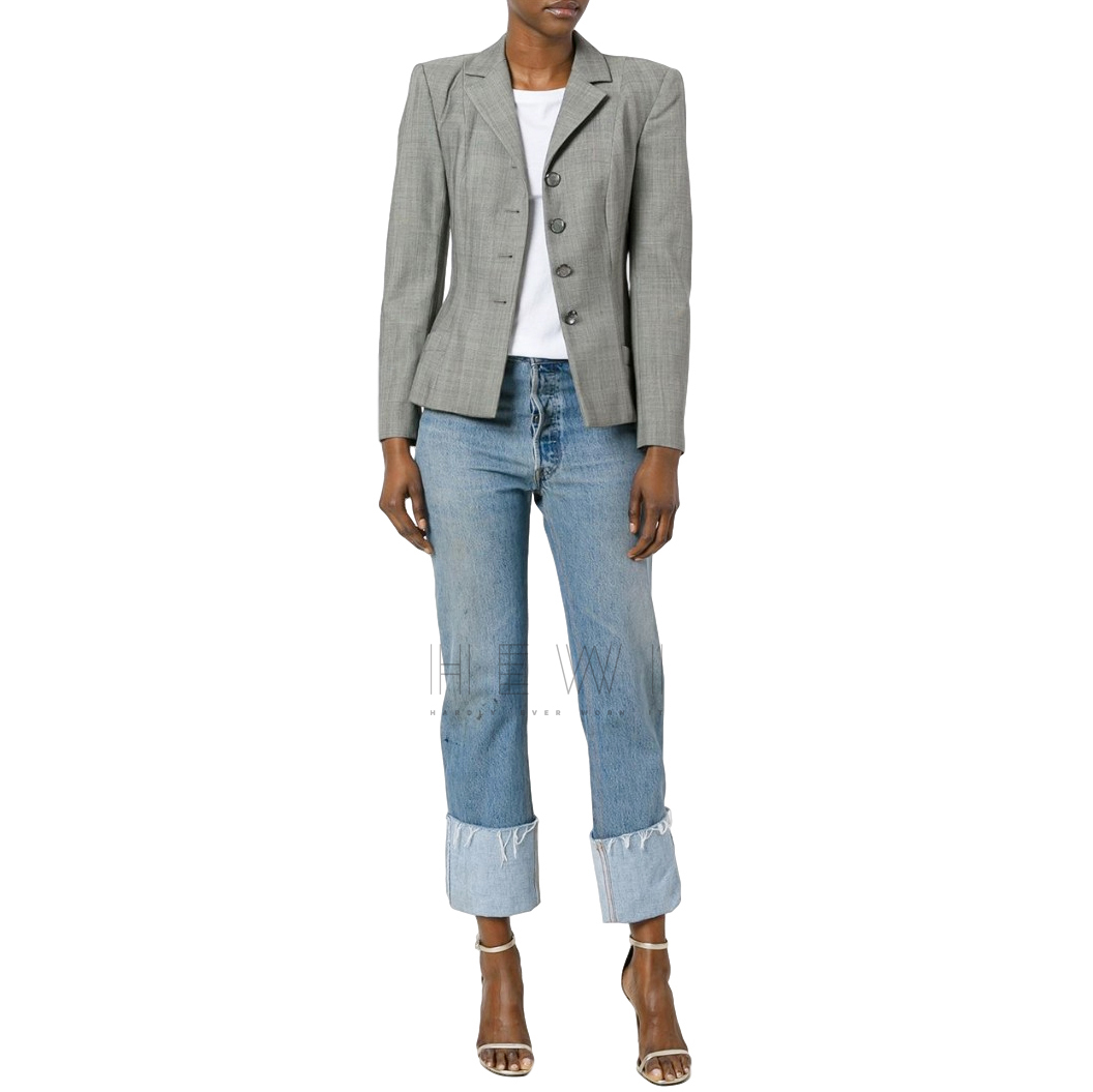 Dior Boutique grey glen check blazer/jacket