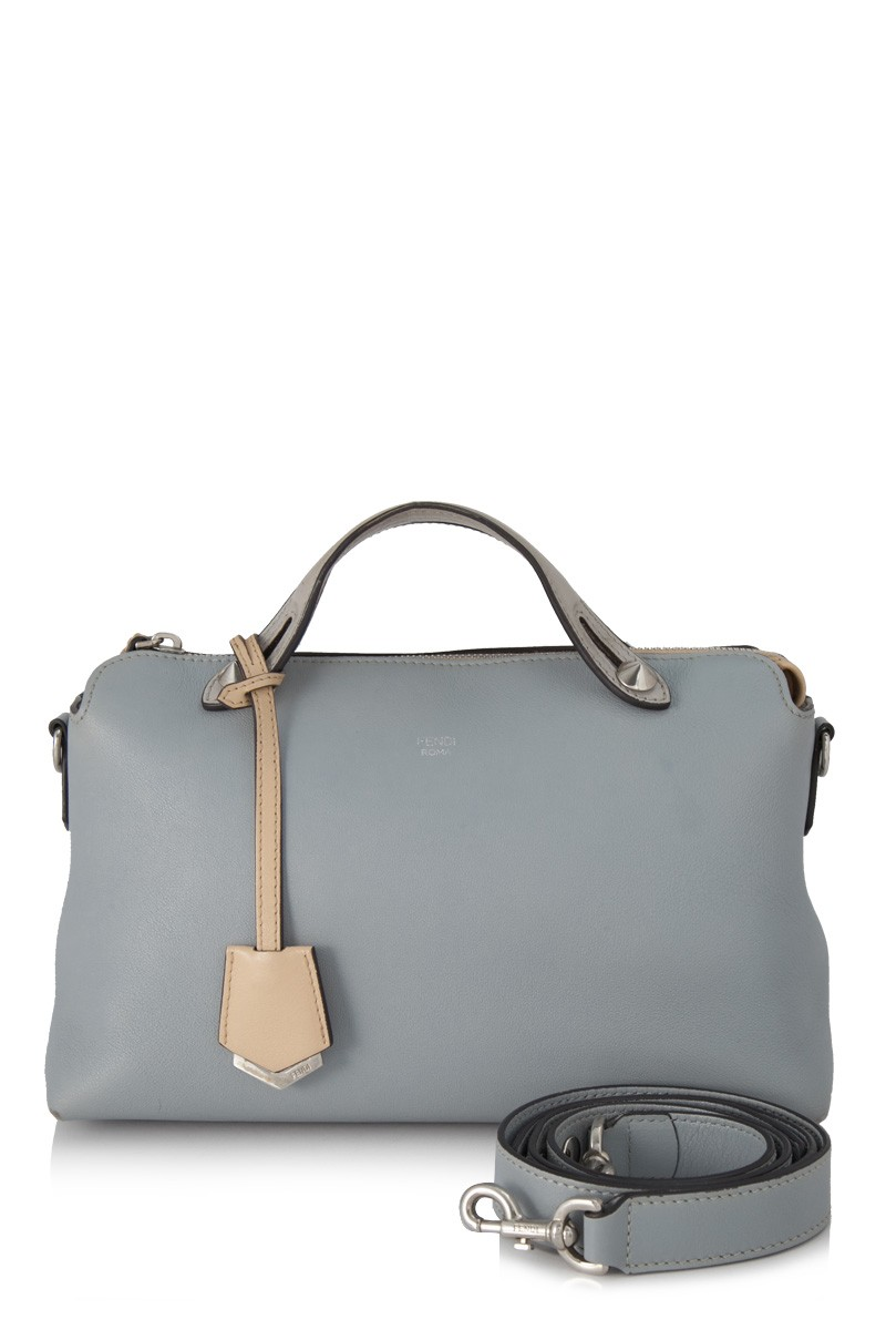 Fendi By The Way Blue Leather Bag